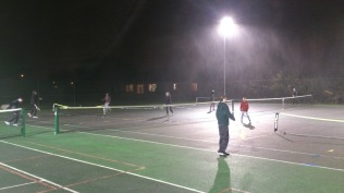 Teens Tinsel touchtennis Tournament - playing through the rain!