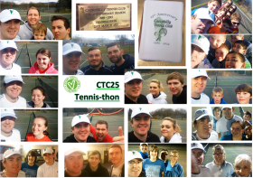CTC25 Tennis-thon Montage. Head Coach Jon played 25 continuous hours of tennis and raised £670 for Velindre!