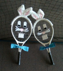 Our Easter bunny rackets