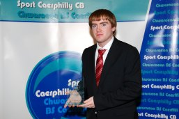 CTC Head Coach Jonathan Morgan with his Community Coach of the Year at the Sport Caerphilly Awards