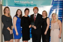 HC Jon with Kelly Davies and the other nominees for Community Coach of the Year