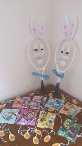 Our Easter bunny rackets and this year's hunt puzzles