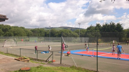 Wimbledon Open Day - pop up mini court and fastest serve challenge