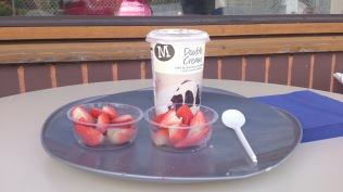 Wimbledon Open Day - traditional strawberries and cream