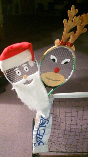 Santa and Rudolph rackets ready for Tots Festive Fun