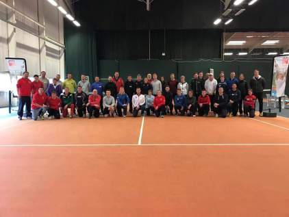 TennisForKids 2017 - Head Coach Jon with the other Welsh TFK coaches at the training day in Cardiff
