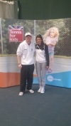 Tennis For Kids Wales Coach Training - Head Coach Jon with former pro and current analyst/presenter Annabel Croft
